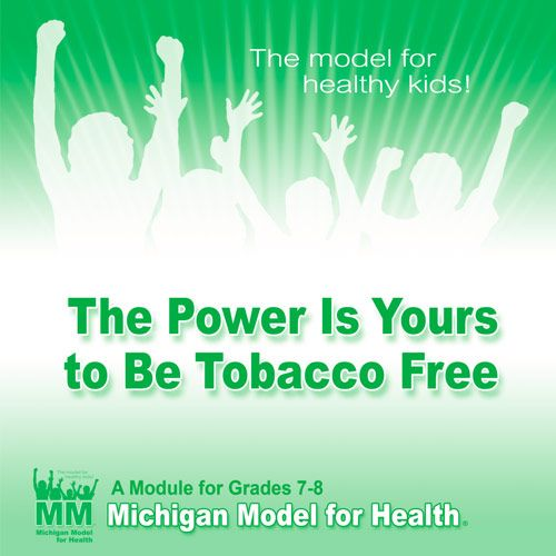Grades 7-8 The Power is Yours to be Tobacco Free teacher manual cover image